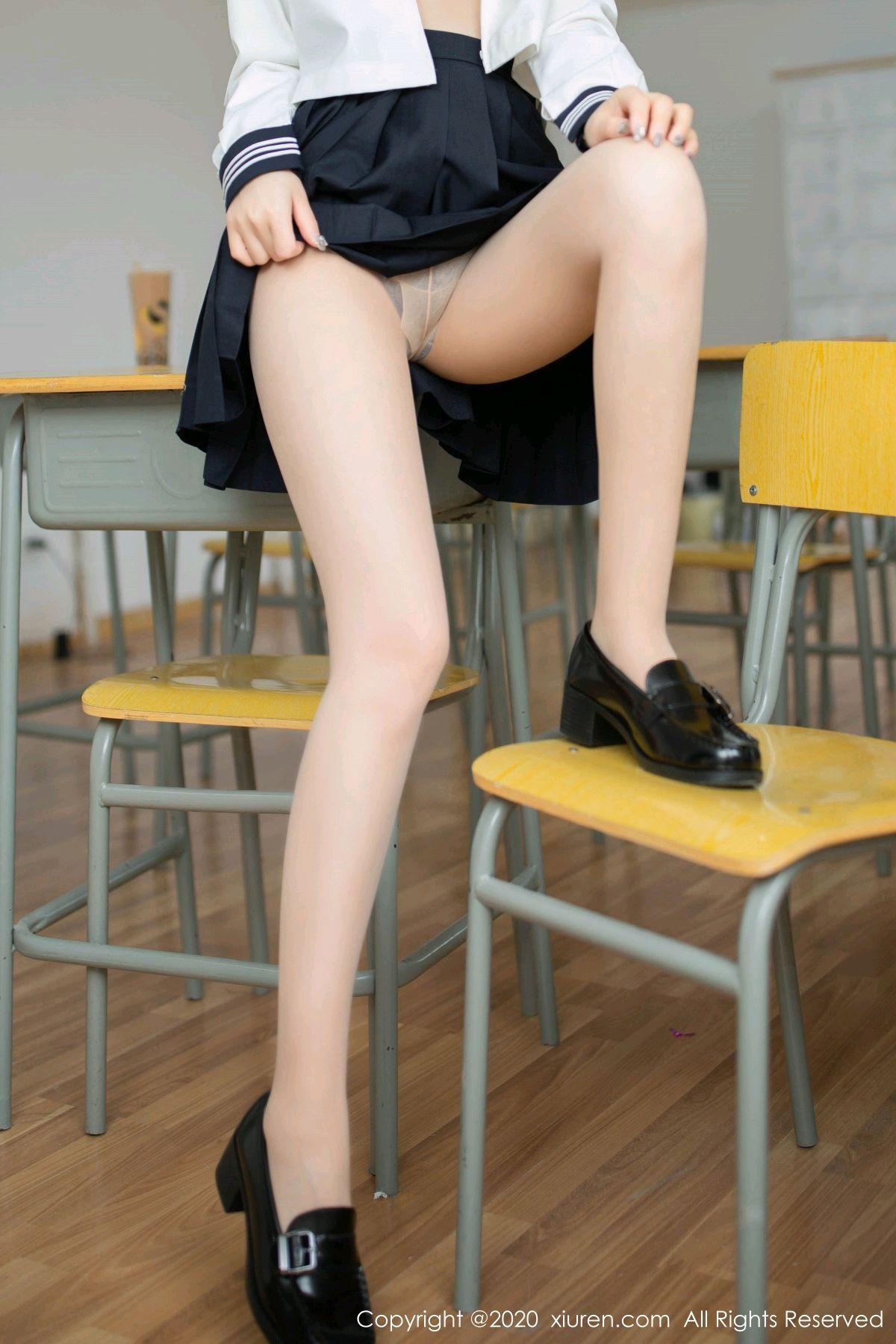 [XiuRen] Vol.2230 Xia Shi Wen 22P, School Uniform, Tall, Underwear, Xia Shi Shi, Xiuren