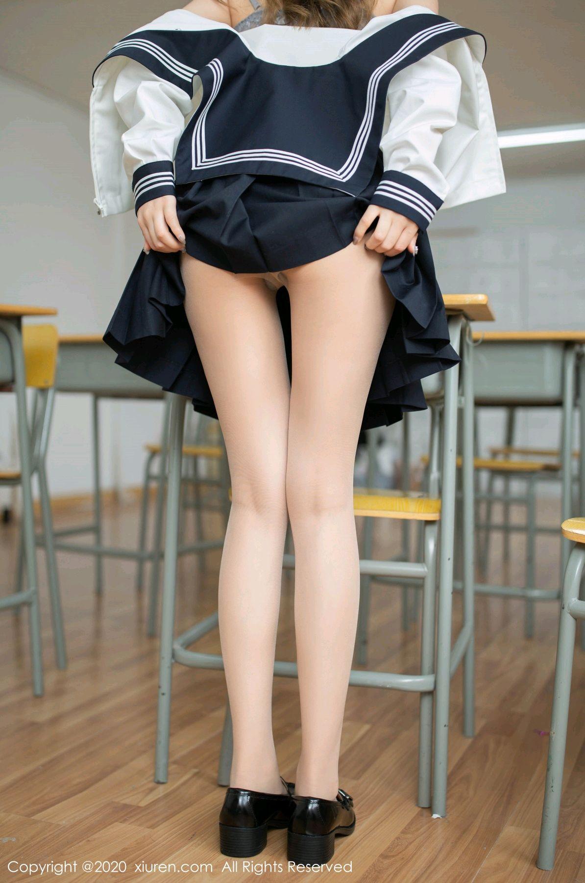 [XiuRen] Vol.2230 Xia Shi Wen 25P, School Uniform, Tall, Underwear, Xia Shi Shi, Xiuren