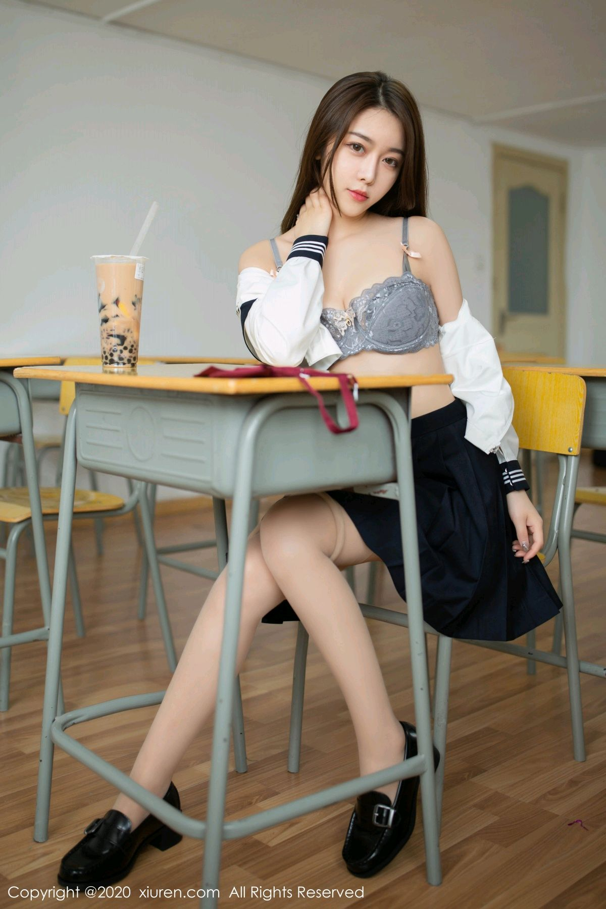 [XiuRen] Vol.2230 Xia Shi Wen 32P, School Uniform, Tall, Underwear, Xia Shi Shi, Xiuren