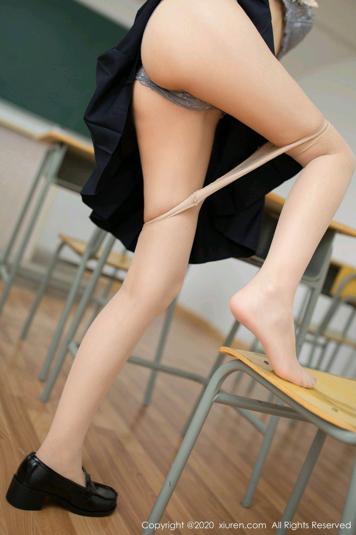 [XiuRen] Vol.2230 Xia Shi Wen 44P, School Uniform, Tall, Underwear, Xia Shi Shi, Xiuren