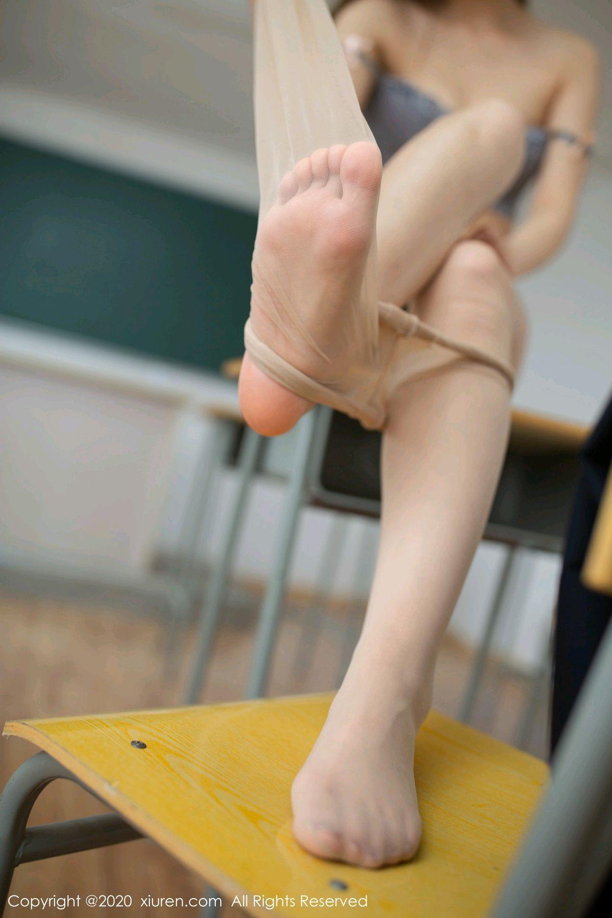 [XiuRen] Vol.2230 Xia Shi Wen 61P, School Uniform, Tall, Underwear, Xia Shi Shi, Xiuren