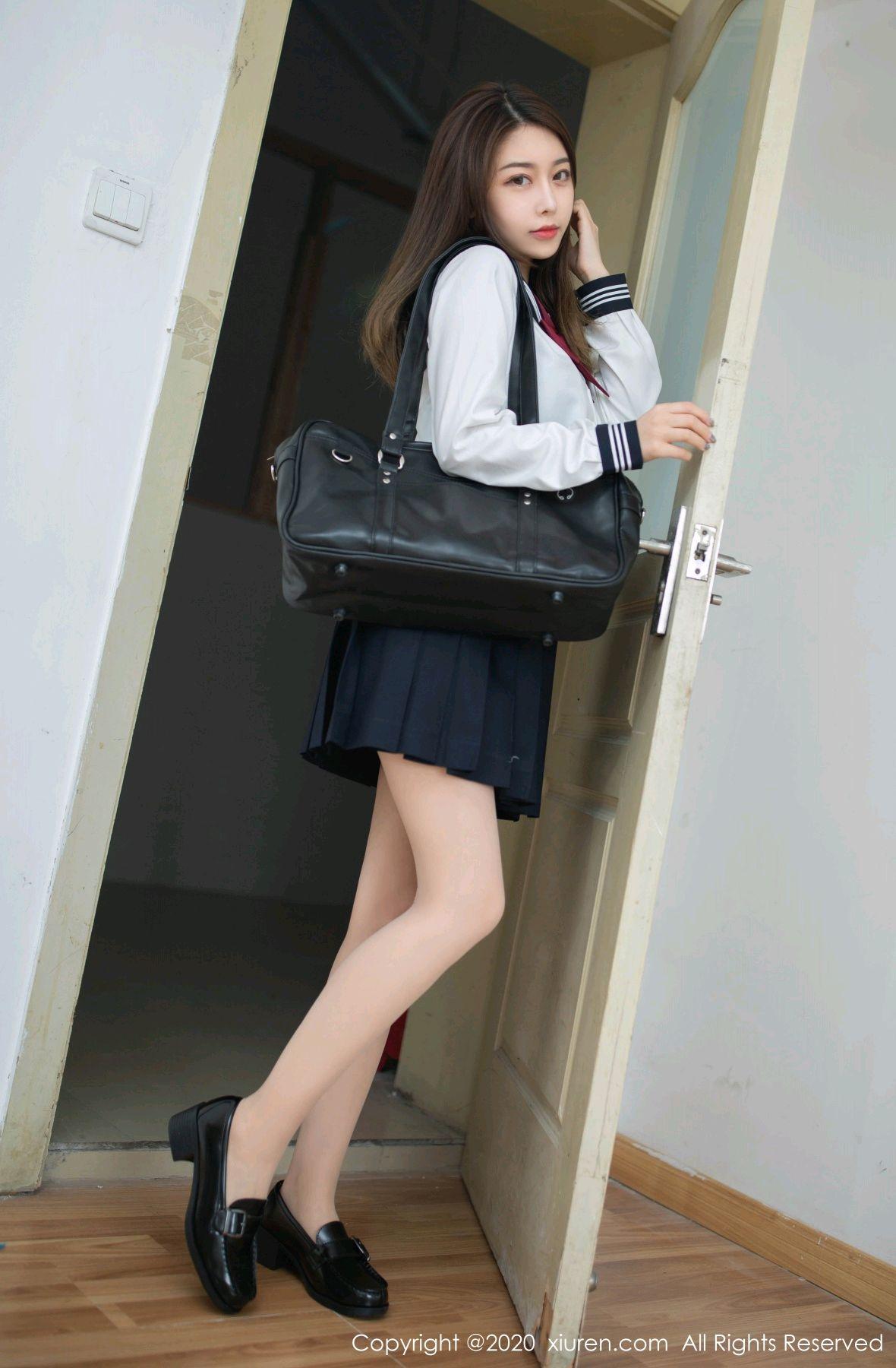 [XiuRen] Vol.2230 Xia Shi Wen 6P, School Uniform, Tall, Underwear, Xia Shi Shi, Xiuren