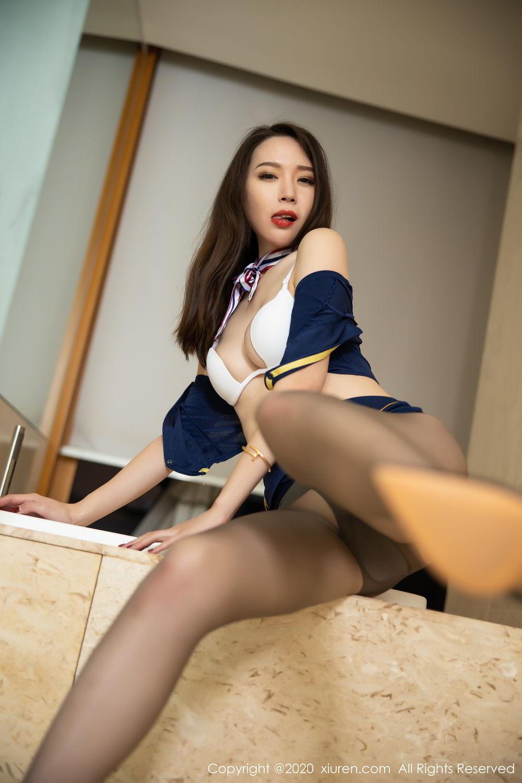 [XiuRen] Vol.2234 Meng Xin Yue 40P, Black Silk, Meng Xin Yue, Stewardess, Tall, Underwear, Uniform, Xiuren