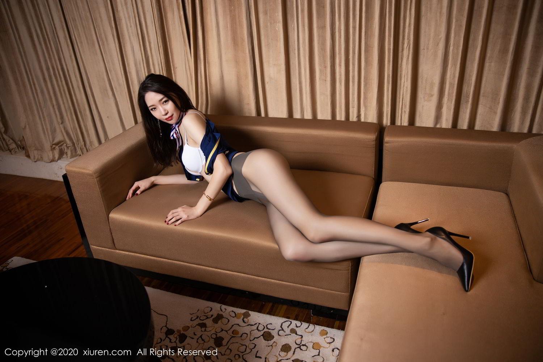[XiuRen] Vol.2234 Meng Xin Yue 61P, Black Silk, Meng Xin Yue, Stewardess, Tall, Underwear, Uniform, Xiuren