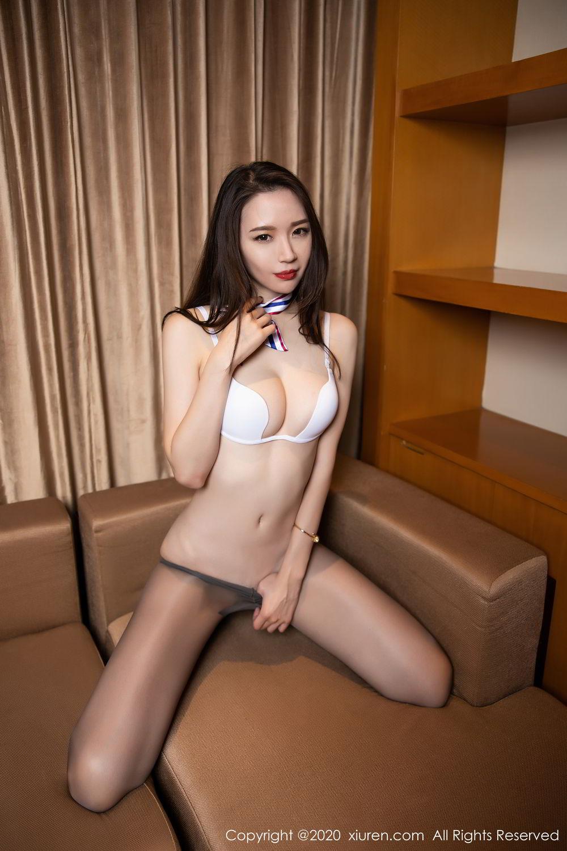 [XiuRen] Vol.2234 Meng Xin Yue 85P, Black Silk, Meng Xin Yue, Stewardess, Tall, Underwear, Uniform, Xiuren
