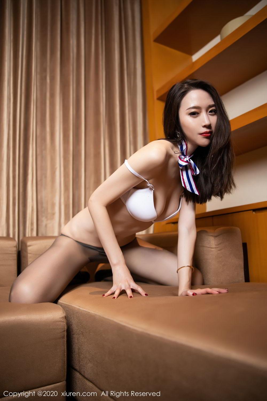 [XiuRen] Vol.2234 Meng Xin Yue 86P, Black Silk, Meng Xin Yue, Stewardess, Tall, Underwear, Uniform, Xiuren