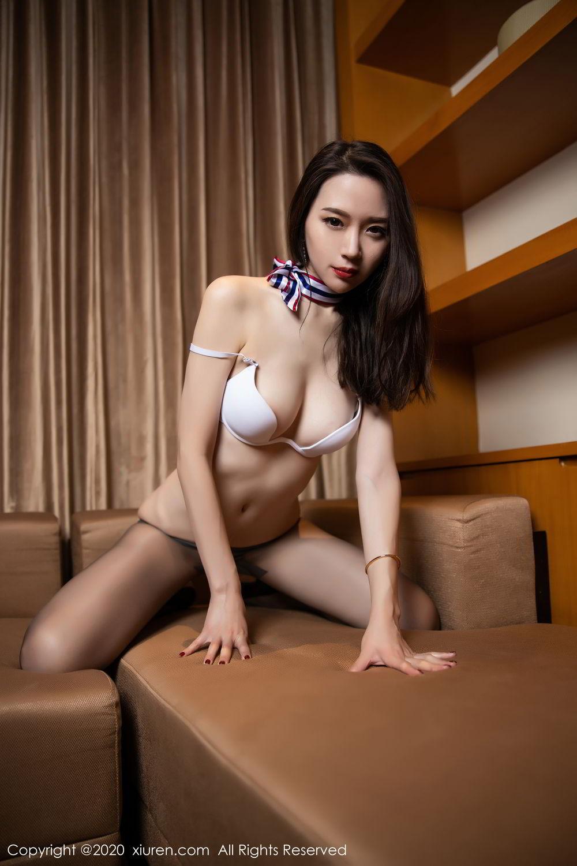 [XiuRen] Vol.2234 Meng Xin Yue 90P, Black Silk, Meng Xin Yue, Stewardess, Tall, Underwear, Uniform, Xiuren