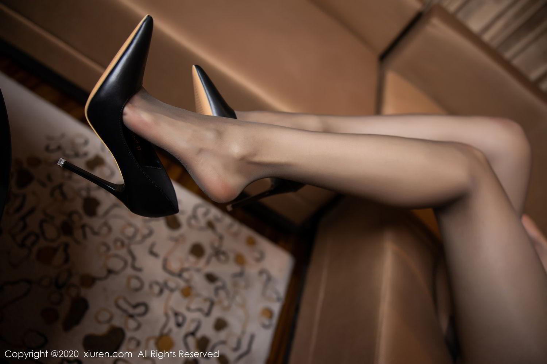 [XiuRen] Vol.2234 Meng Xin Yue 92P, Black Silk, Meng Xin Yue, Stewardess, Tall, Underwear, Uniform, Xiuren