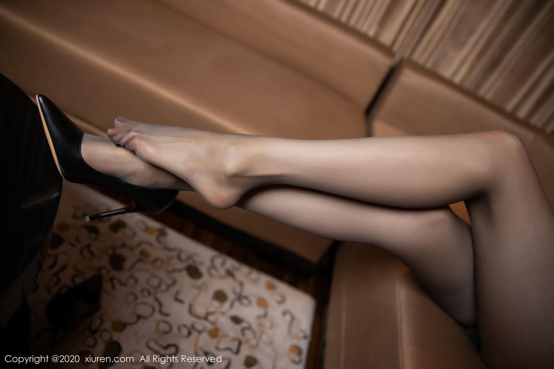 [XiuRen] Vol.2234 Meng Xin Yue 94P, Black Silk, Meng Xin Yue, Stewardess, Tall, Underwear, Uniform, Xiuren