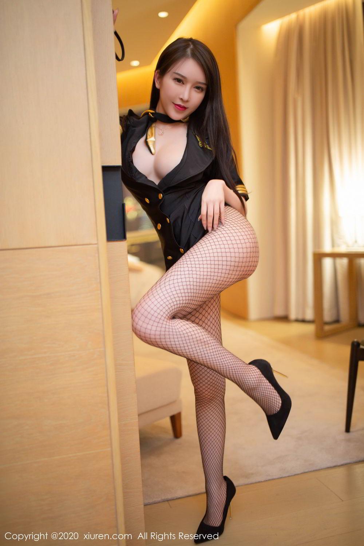 [XiuRen] Vol.2235 Yu Tu Miki 20P, Stewardess, Tall, Underwear, Xiuren, Yu Tu M I K I