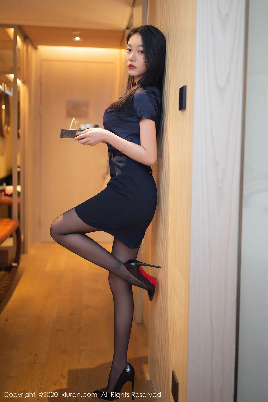 [XiuRen] Vol.2242 An Ran Maleah 12P, An Ran Maleah, Black Silk, Underwear, Uniform, Xiuren