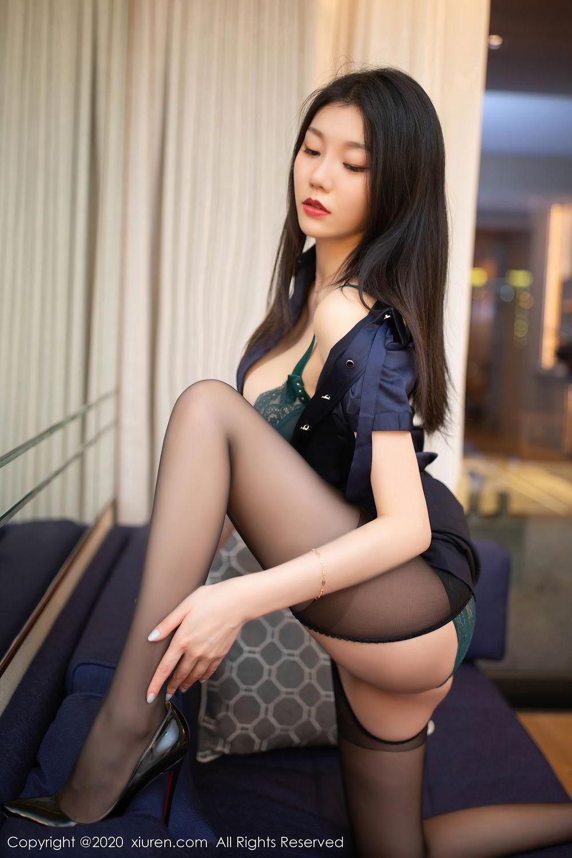 [XiuRen] Vol.2242 An Ran Maleah 17P, An Ran Maleah, Black Silk, Underwear, Uniform, Xiuren