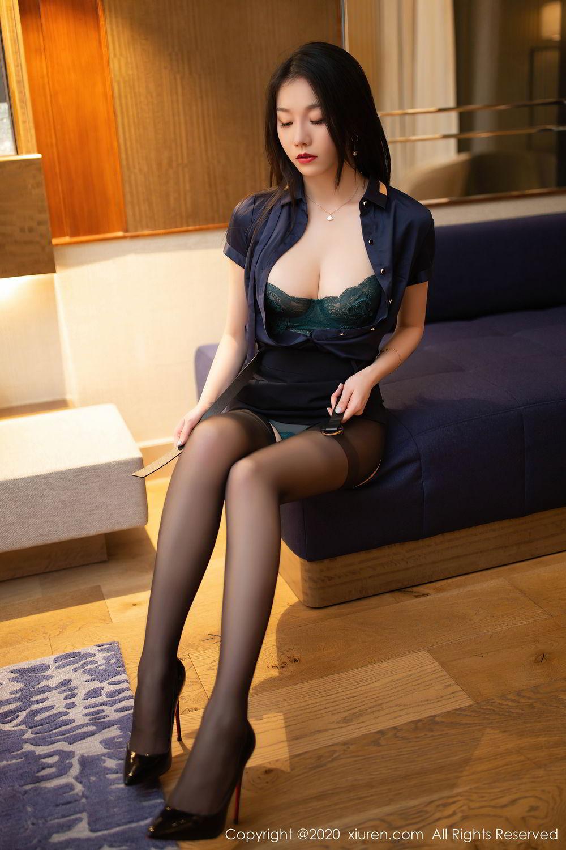 [XiuRen] Vol.2242 An Ran Maleah 21P, An Ran Maleah, Black Silk, Underwear, Uniform, Xiuren