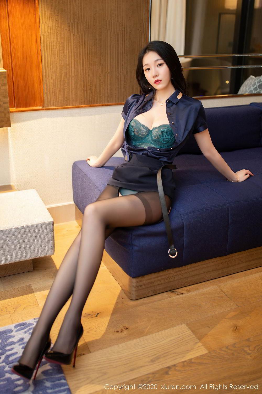 [XiuRen] Vol.2242 An Ran Maleah 22P, An Ran Maleah, Black Silk, Underwear, Uniform, Xiuren