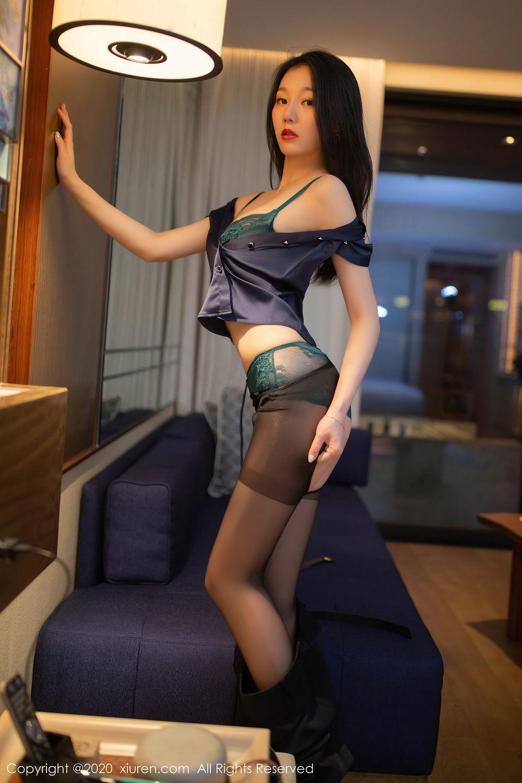 [XiuRen] Vol.2242 An Ran Maleah 32P, An Ran Maleah, Black Silk, Underwear, Uniform, Xiuren