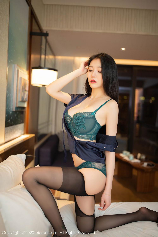 [XiuRen] Vol.2242 An Ran Maleah 37P, An Ran Maleah, Black Silk, Underwear, Uniform, Xiuren
