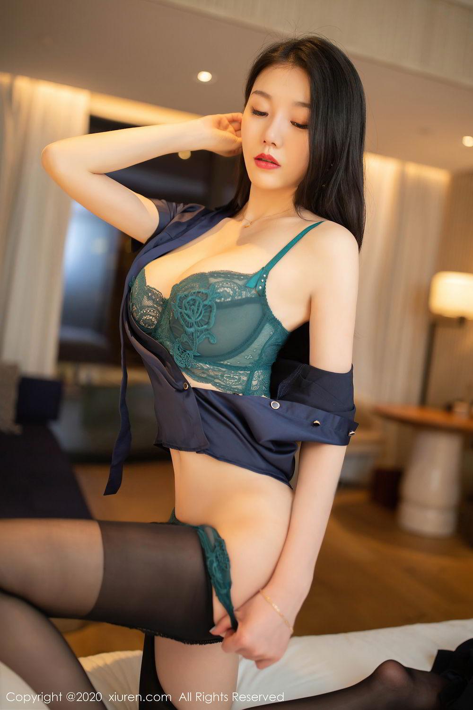 [XiuRen] Vol.2242 An Ran Maleah 38P, An Ran Maleah, Black Silk, Underwear, Uniform, Xiuren