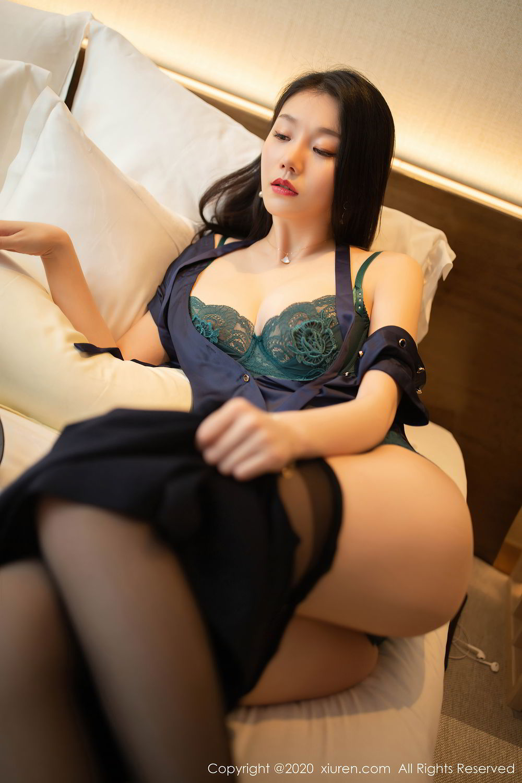 [XiuRen] Vol.2242 An Ran Maleah 45P, An Ran Maleah, Black Silk, Underwear, Uniform, Xiuren
