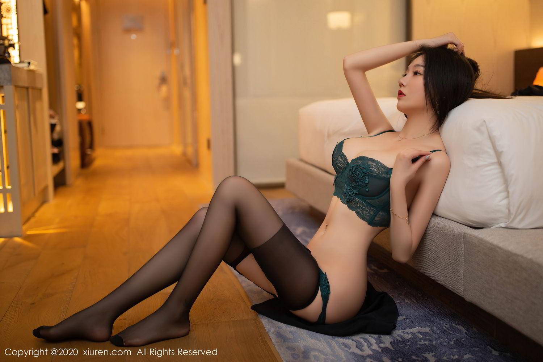 [XiuRen] Vol.2242 An Ran Maleah 46P, An Ran Maleah, Black Silk, Underwear, Uniform, Xiuren