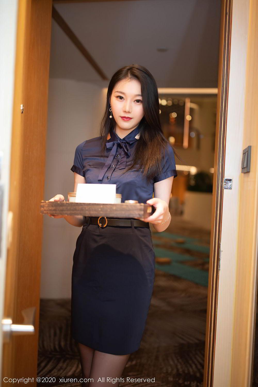 [XiuRen] Vol.2242 An Ran Maleah 56P, An Ran Maleah, Black Silk, Underwear, Uniform, Xiuren