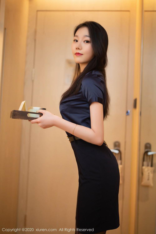 [XiuRen] Vol.2242 An Ran Maleah 66P, An Ran Maleah, Black Silk, Underwear, Uniform, Xiuren