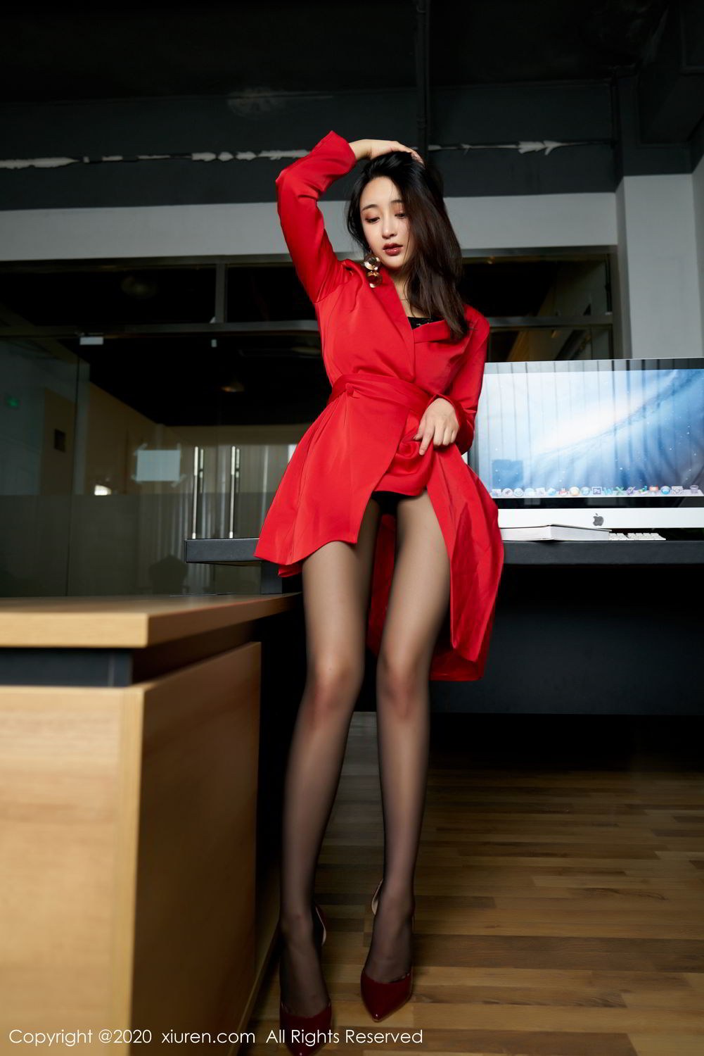 [XiuRen] Vol.2247 Lin Zi Xin 14P, Black Silk, Lin Zi Xin, Tall, Uniform, Xiuren
