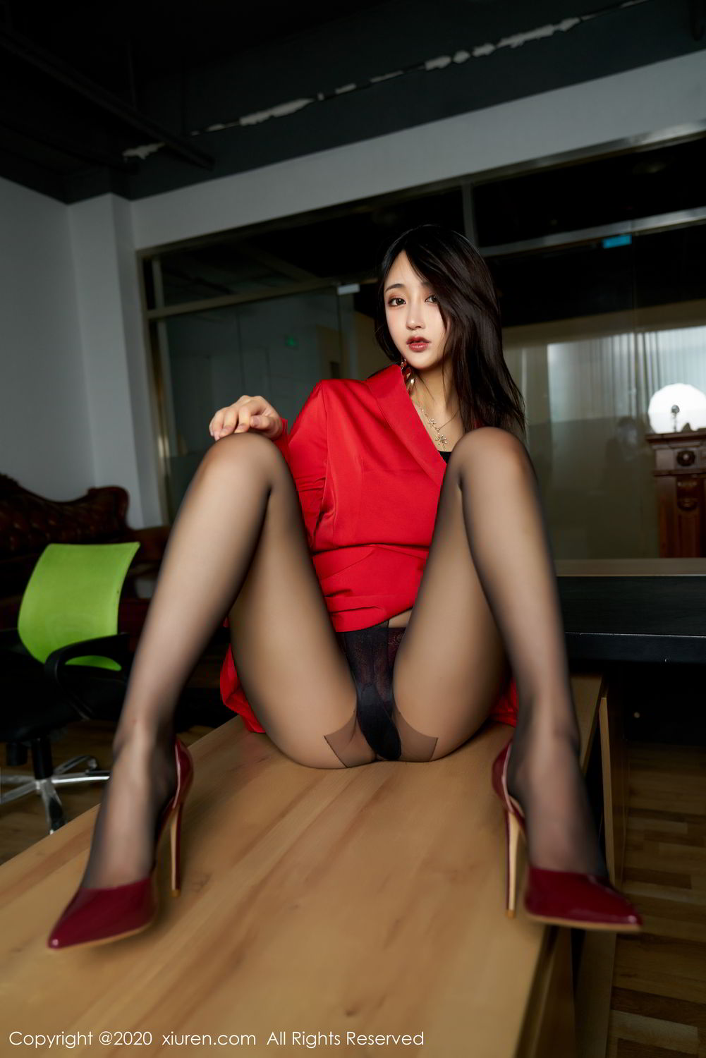[XiuRen] Vol.2247 Lin Zi Xin 17P, Black Silk, Lin Zi Xin, Tall, Uniform, Xiuren