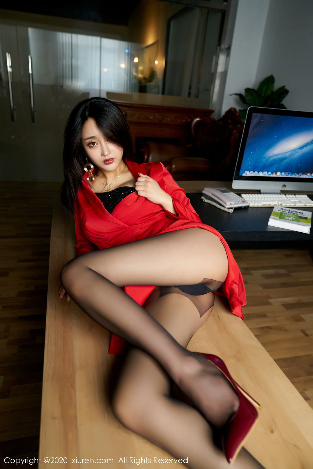 [XiuRen] Vol.2247 Lin Zi Xin 19P, Black Silk, Lin Zi Xin, Tall, Uniform, Xiuren