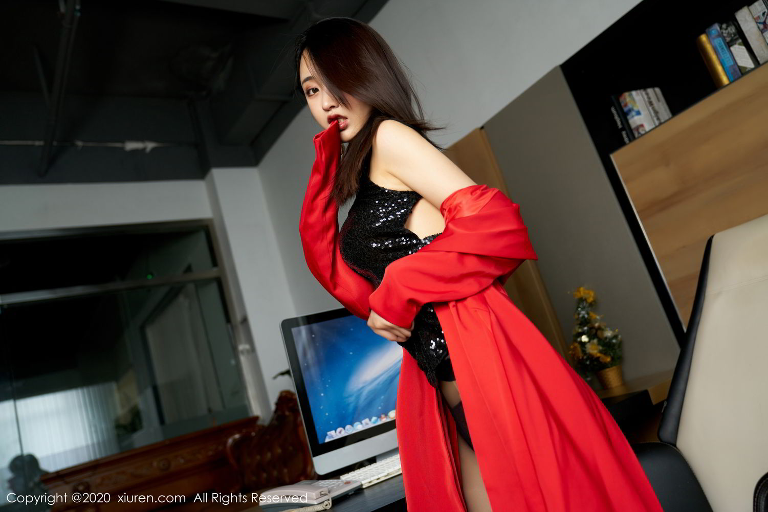[XiuRen] Vol.2247 Lin Zi Xin 50P, Black Silk, Lin Zi Xin, Tall, Uniform, Xiuren
