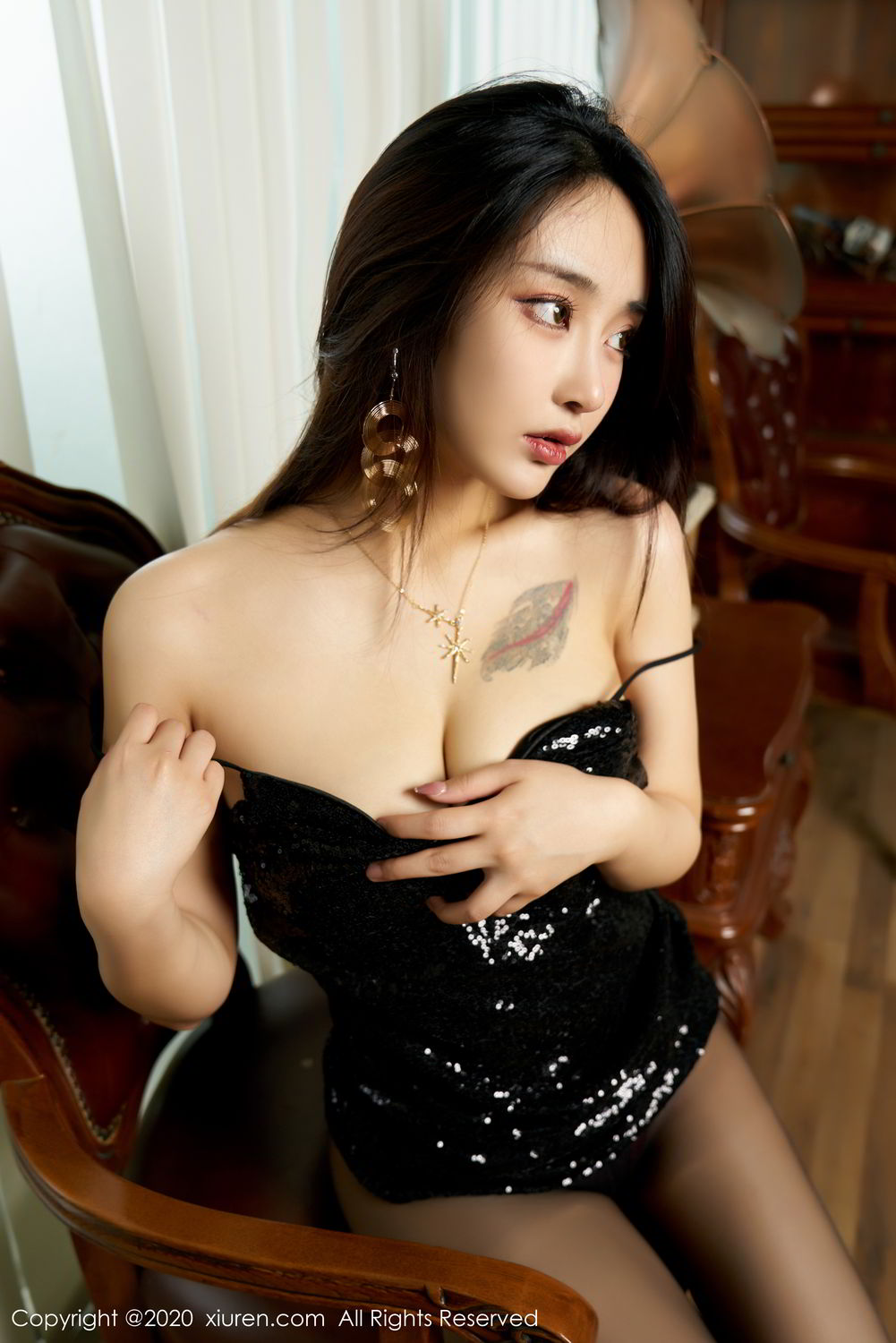 [XiuRen] Vol.2247 Lin Zi Xin 51P, Black Silk, Lin Zi Xin, Tall, Uniform, Xiuren