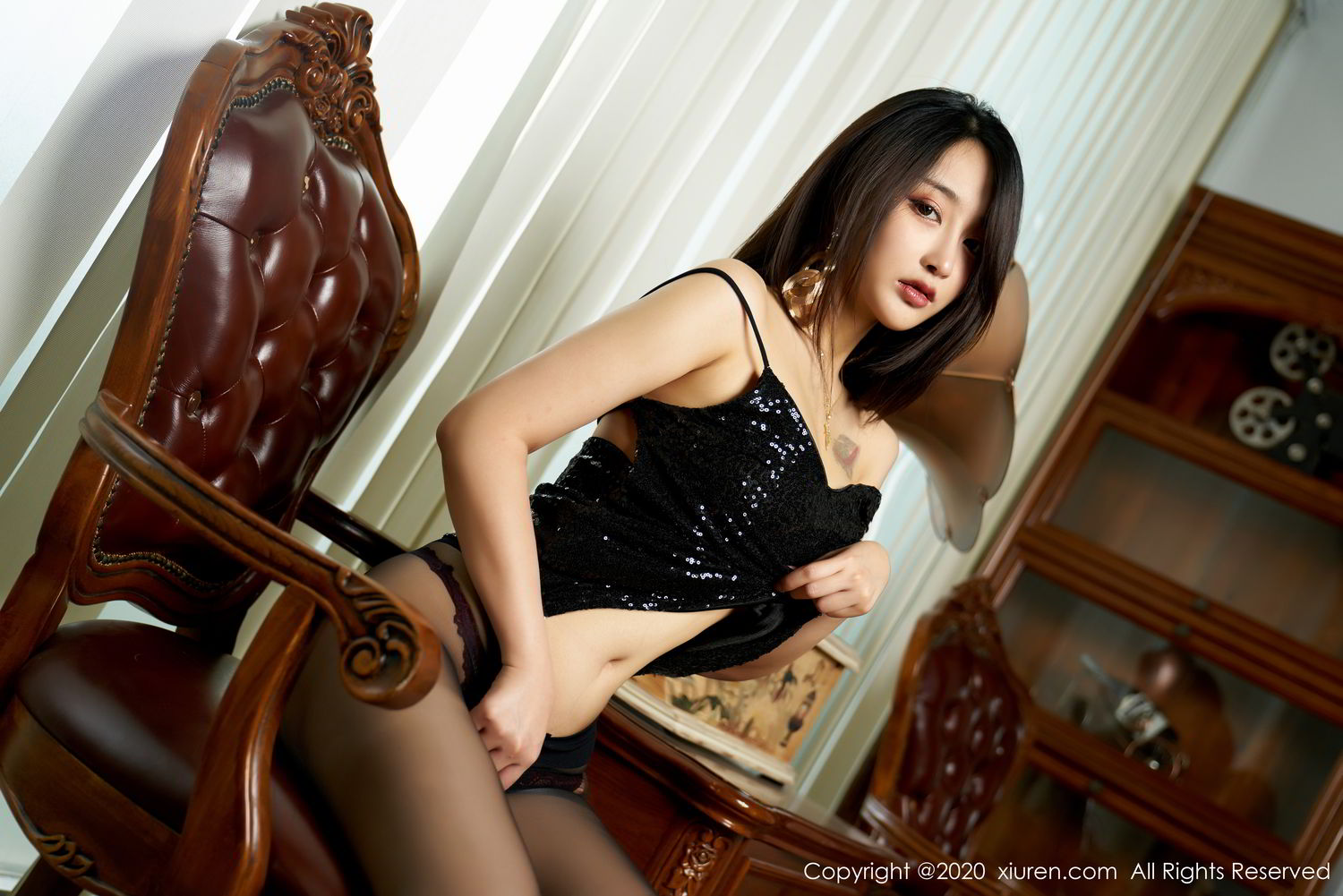 [XiuRen] Vol.2247 Lin Zi Xin 53P, Black Silk, Lin Zi Xin, Tall, Uniform, Xiuren
