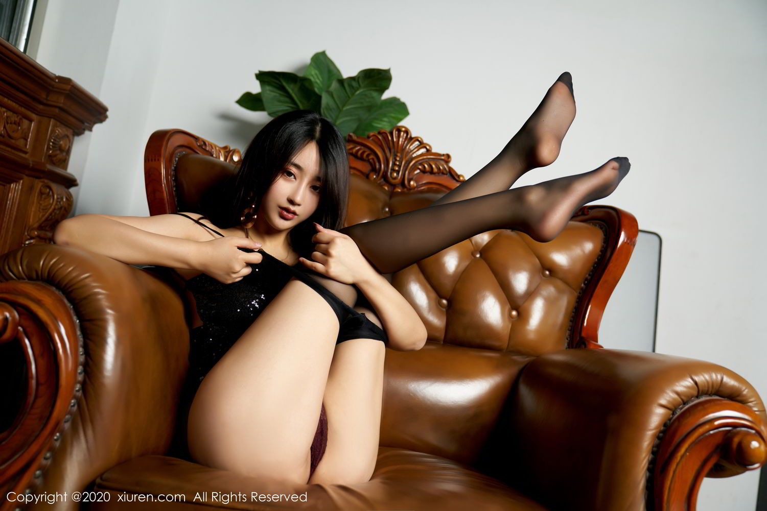 [XiuRen] Vol.2247 Lin Zi Xin 69P, Black Silk, Lin Zi Xin, Tall, Uniform, Xiuren