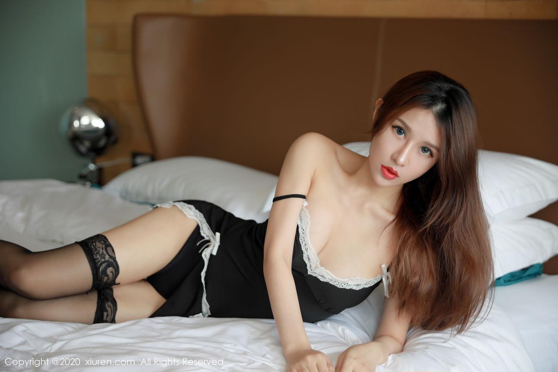 [XiuRen] Vol.2248 Xu An An 11P, Black Silk, Peach Hip, Underwear, Xiuren, Xu An An