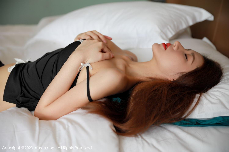 [XiuRen] Vol.2248 Xu An An 25P, Black Silk, Peach Hip, Underwear, Xiuren, Xu An An