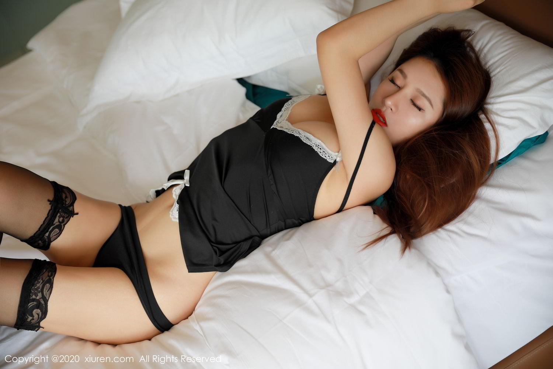 [XiuRen] Vol.2248 Xu An An 29P, Black Silk, Peach Hip, Underwear, Xiuren, Xu An An