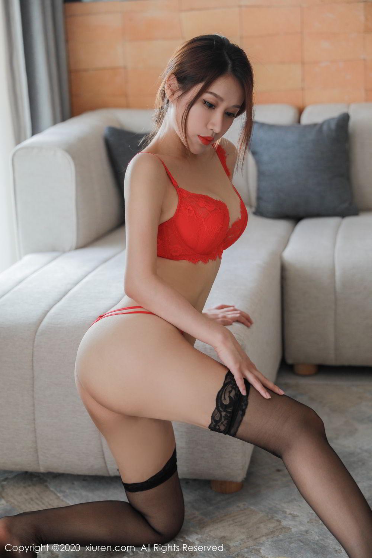 [XiuRen] Vol.2248 Xu An An 43P, Black Silk, Peach Hip, Underwear, Xiuren, Xu An An