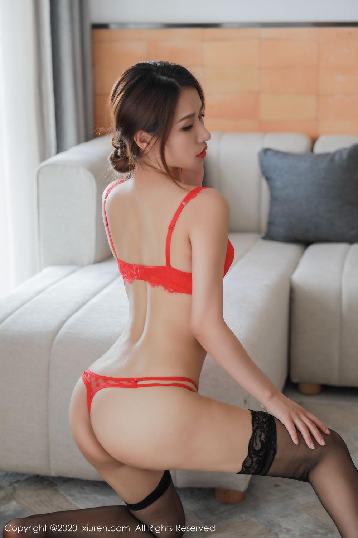 [XiuRen] Vol.2248 Xu An An 44P, Black Silk, Peach Hip, Underwear, Xiuren, Xu An An