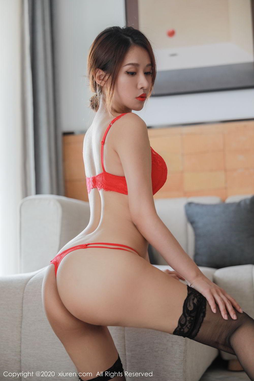 [XiuRen] Vol.2248 Xu An An 45P, Black Silk, Peach Hip, Underwear, Xiuren, Xu An An