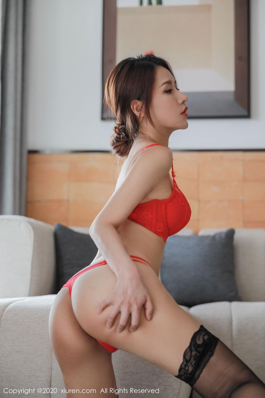 [XiuRen] Vol.2248 Xu An An 46P, Black Silk, Peach Hip, Underwear, Xiuren, Xu An An