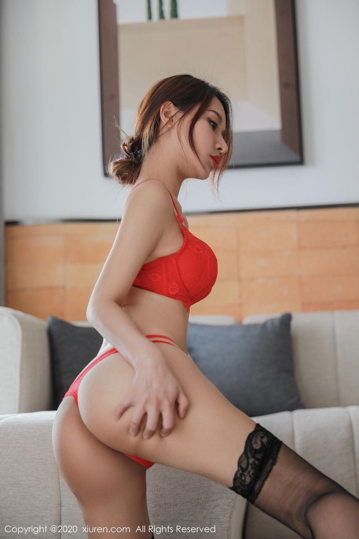 [XiuRen] Vol.2248 Xu An An 47P, Black Silk, Peach Hip, Underwear, Xiuren, Xu An An