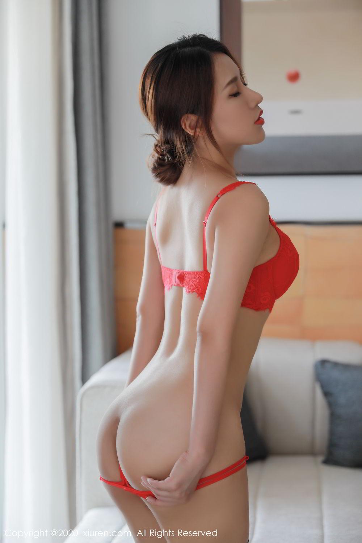 [XiuRen] Vol.2248 Xu An An 50P, Black Silk, Peach Hip, Underwear, Xiuren, Xu An An
