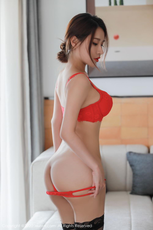 [XiuRen] Vol.2248 Xu An An 51P, Black Silk, Peach Hip, Underwear, Xiuren, Xu An An