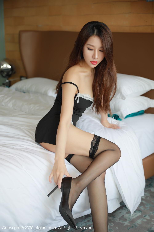 [XiuRen] Vol.2248 Xu An An 7P, Black Silk, Peach Hip, Underwear, Xiuren, Xu An An