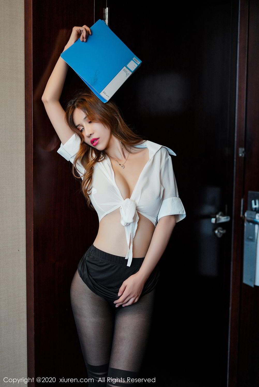 [XiuRen] Vol.2253 Tian Xiao Yan 1P, Black Silk, Tian Xiao Yan, Underwear, Xiuren