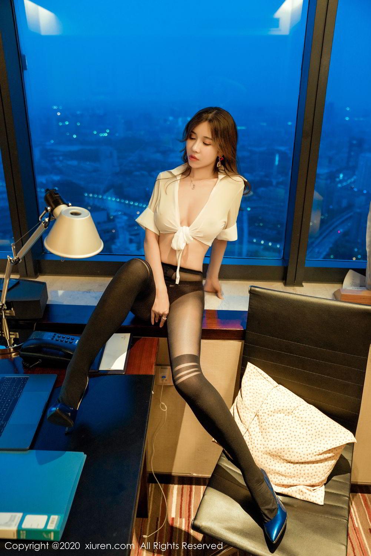 [XiuRen] Vol.2253 Tian Xiao Yan 3P, Black Silk, Tian Xiao Yan, Underwear, Xiuren