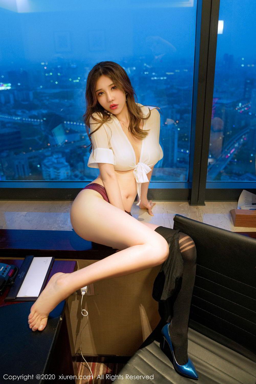 [XiuRen] Vol.2253 Tian Xiao Yan 5P, Black Silk, Tian Xiao Yan, Underwear, Xiuren