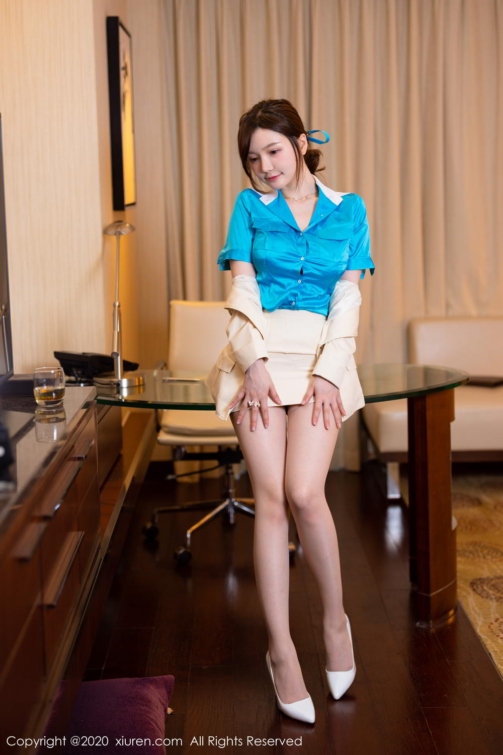[XiuRen] Vol.2255 Nuo Mei Zi 1P, Mini Da Meng Meng, Stewardess, Underwear, Uniform, Xiuren