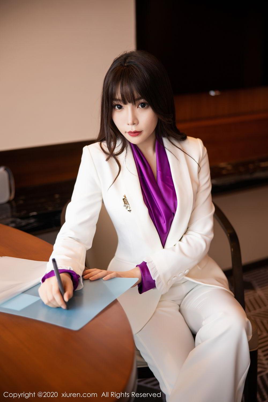 [XiuRen] Vol.2256 Zhi Zhi Booty 10P, Black Silk, Chen Zhi, Uniform, Xiuren