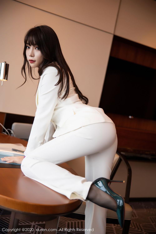 [XiuRen] Vol.2256 Zhi Zhi Booty 12P, Black Silk, Chen Zhi, Uniform, Xiuren