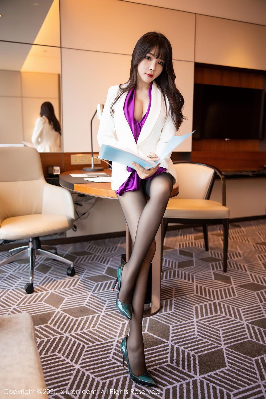 [XiuRen] Vol.2256 Zhi Zhi Booty 1P, Black Silk, Chen Zhi, Uniform, Xiuren
